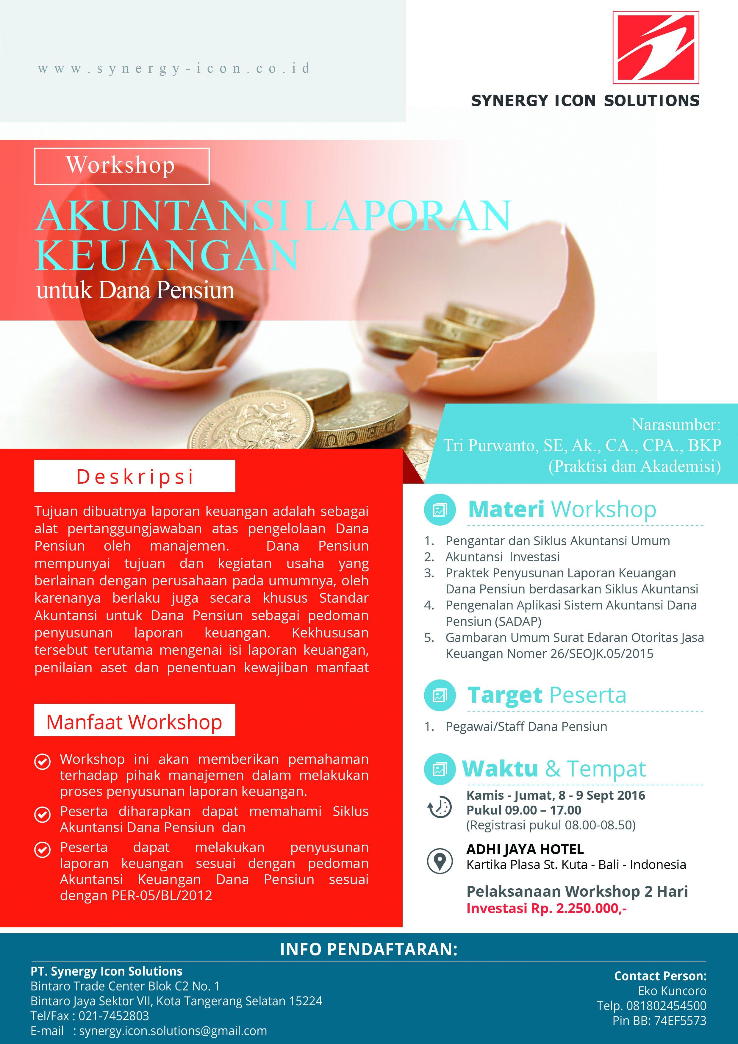 Workshop Akuntansi Keuangan Dana Pensiun