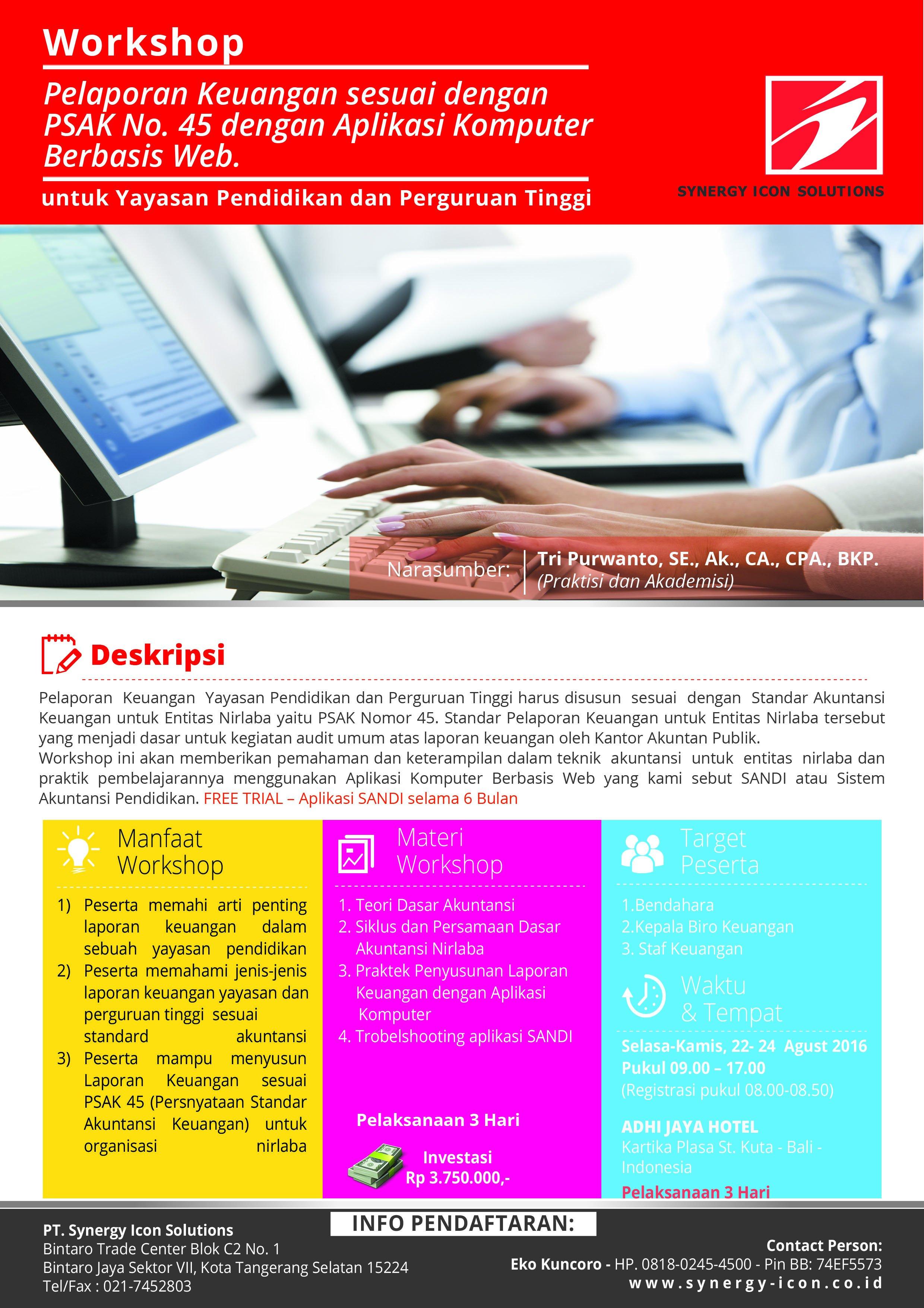 Workshop Penyusunan Laporan Keuangan berbasis Web